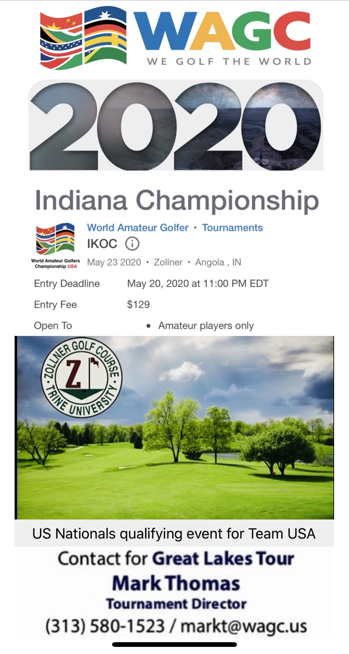 2020 World Amateur Golfer 2020 Indiana Championship
